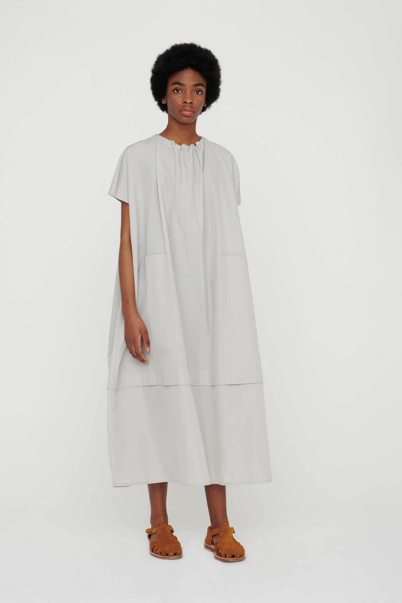 THE POET DRESS / WASHED COTTON SILK CELADON