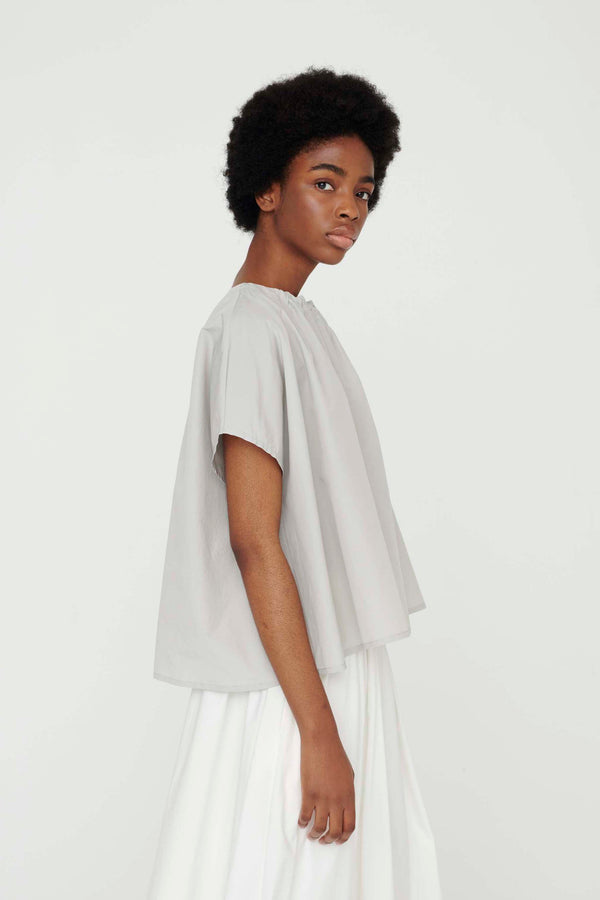 THE POET TOP / WASHED COTTON SILK CELADON