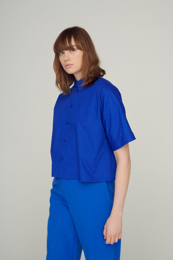 The Gardener Short Shirt / Cobalt