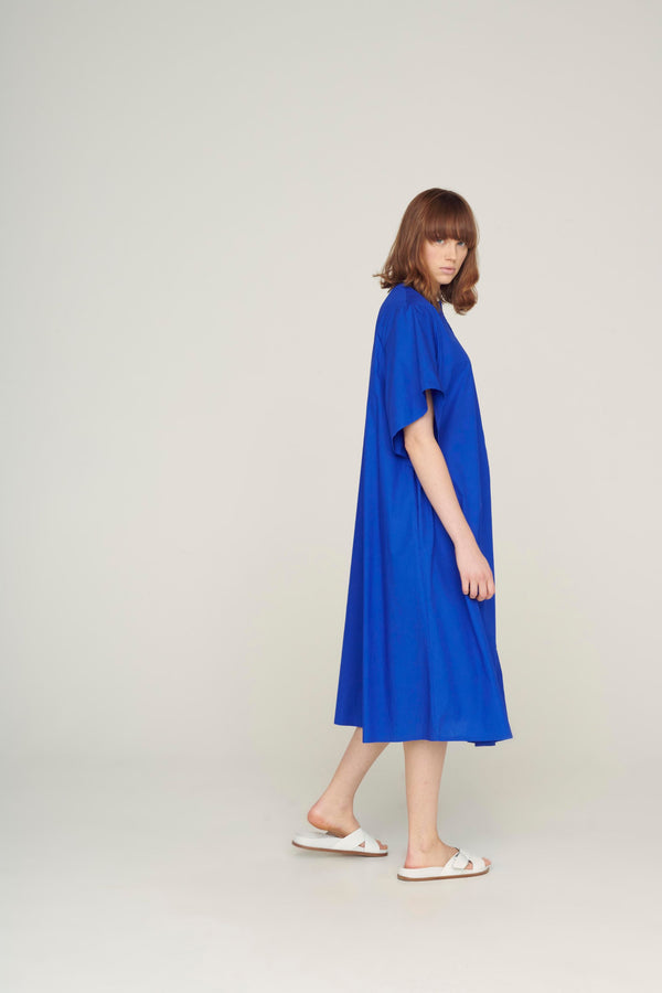 The Writer Dress / Cobalt
