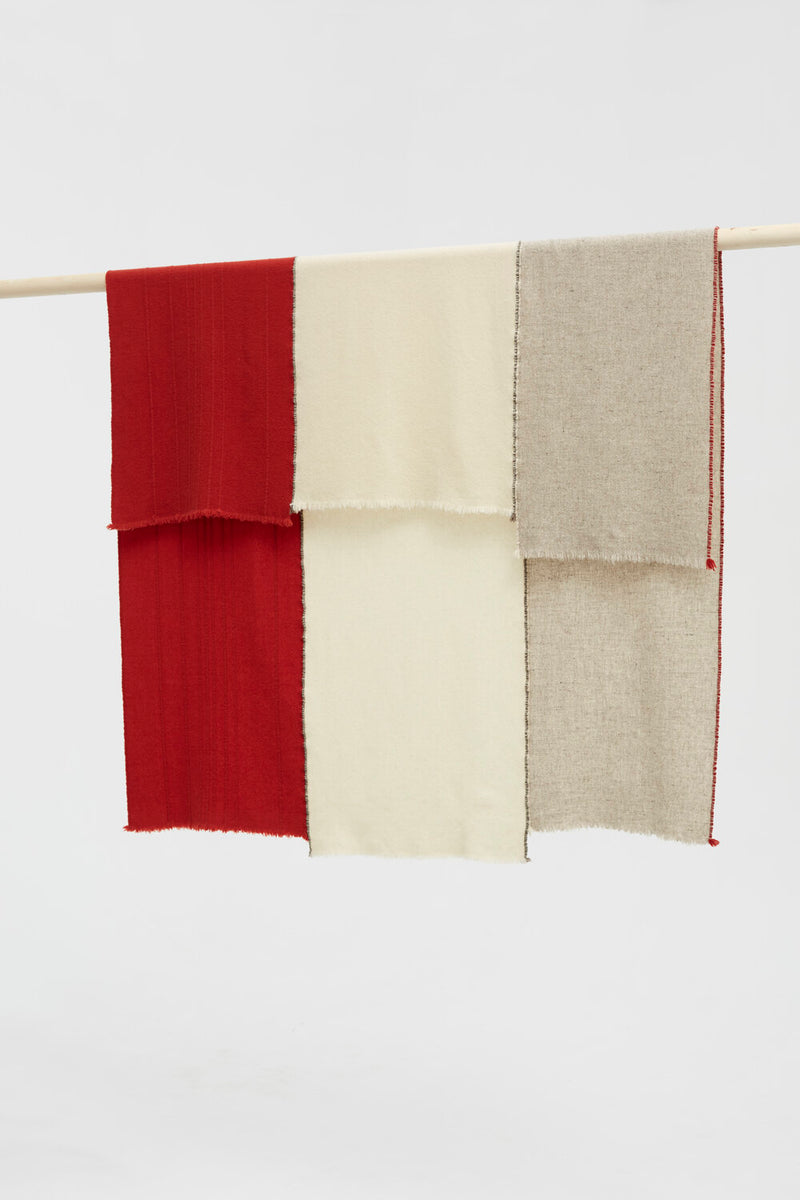 Toogood X Teixidors Merino Wool Throw - Scarlet