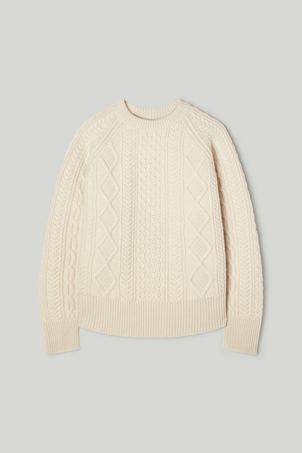 THE FISHERMAN JUMPER / CHALK