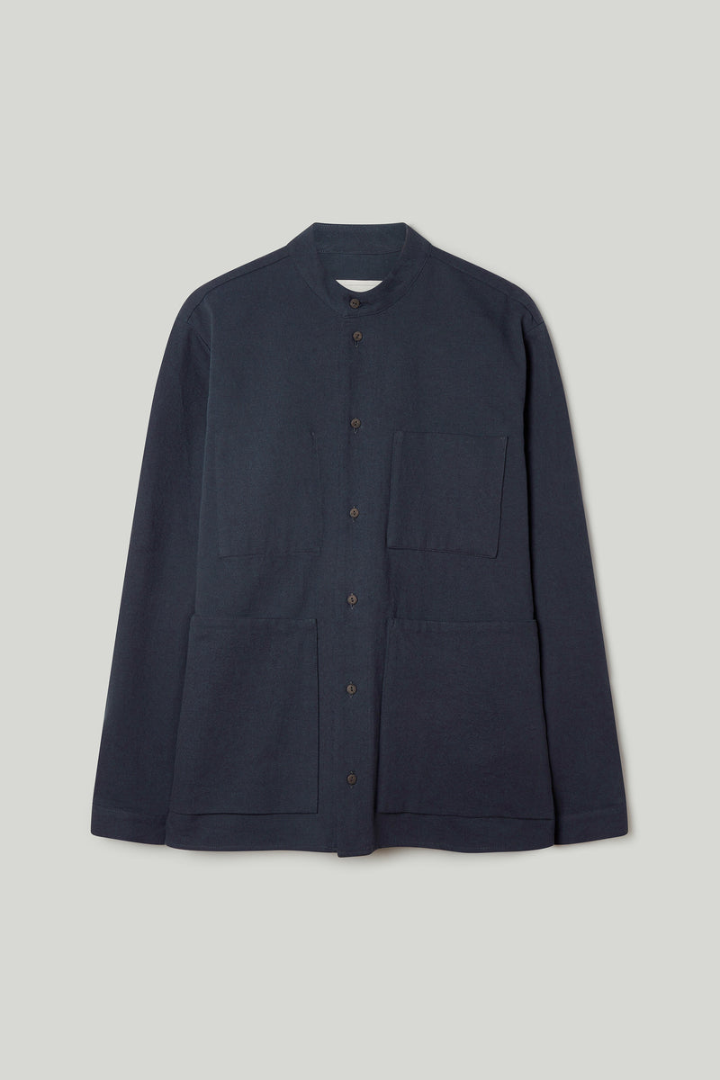 THE LOCKSMITH SHIRT / WOOL-COTTON DRILL NIGHT