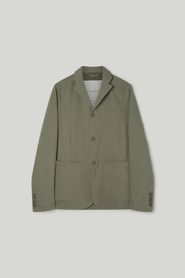 THE METALWORKER JACKET / WOOL-COTTON DRILL LICHEN