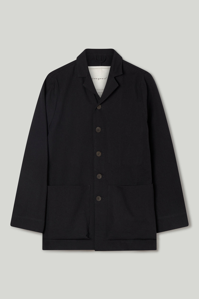 THE PHOTOGRAPHER JACKET / WOOL COTTON DRILL FLINT