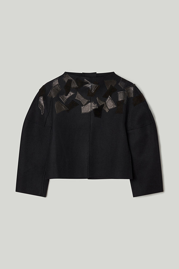 THE WELDER TOP SHORT / FLINT LEAF APPLIQUÉ