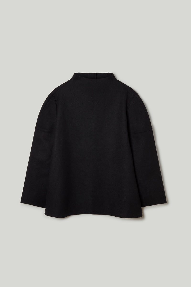 THE WELDER TOP / LAMBSWOOL FELT FLINT