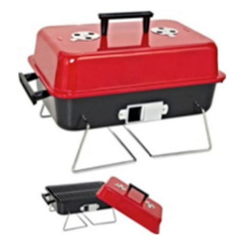 Havegrill Transportabel Rød Sort (47 X 28 x 28 cm)