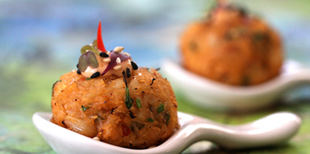 Crab Cakes with Pad Thai Sauce