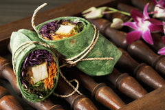 Wrap with Thai Peanut Sauce