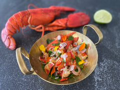 Lemongrass Lobster Salad with Pad Thai Sauce