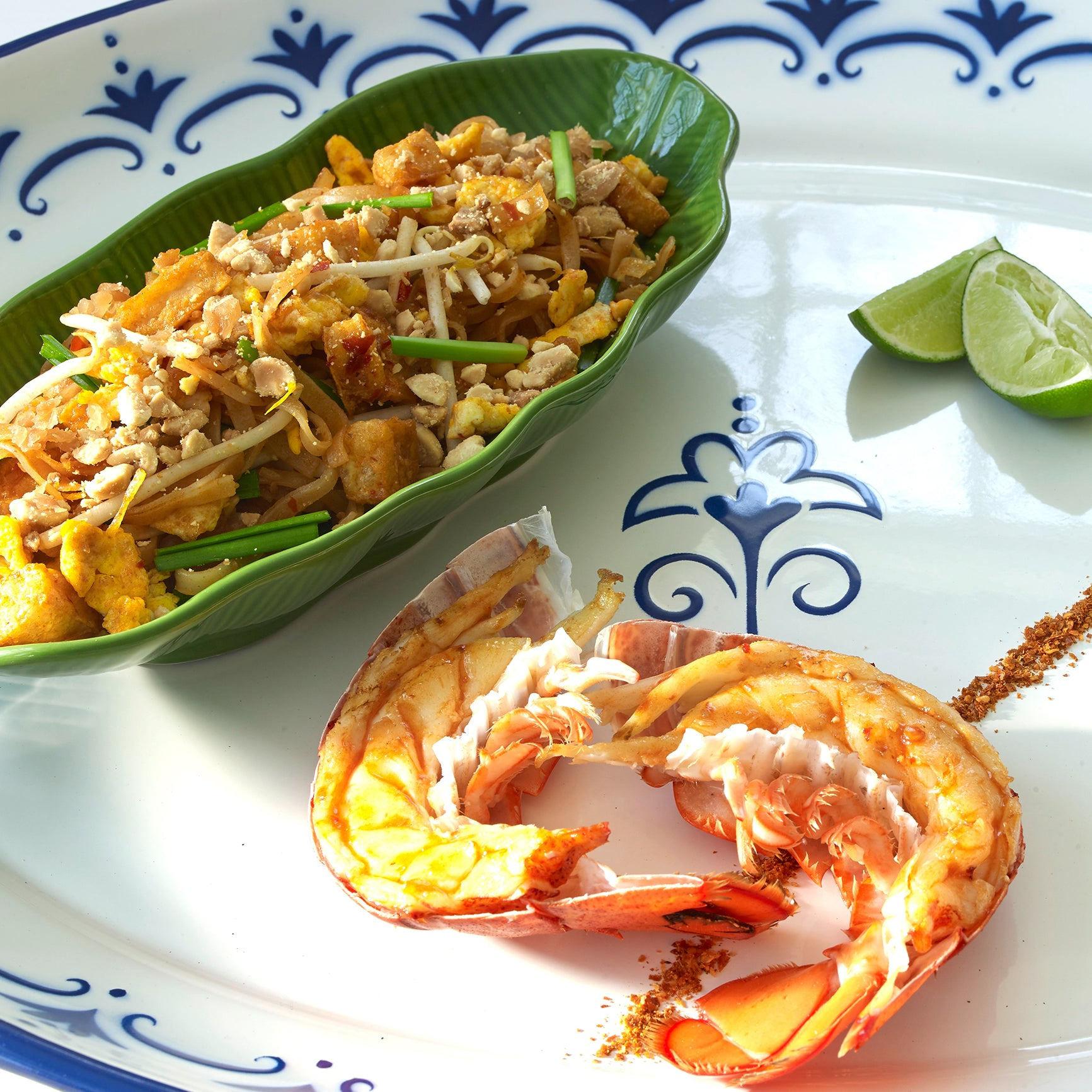grilled lobster with pad thai