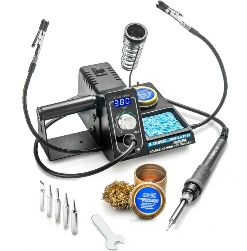 X-Tronic™ Soldering Station Digital Display With Helping Hands