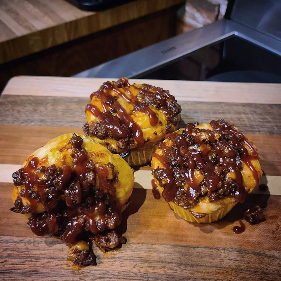 Cheesy BBQ Biscuit Cups