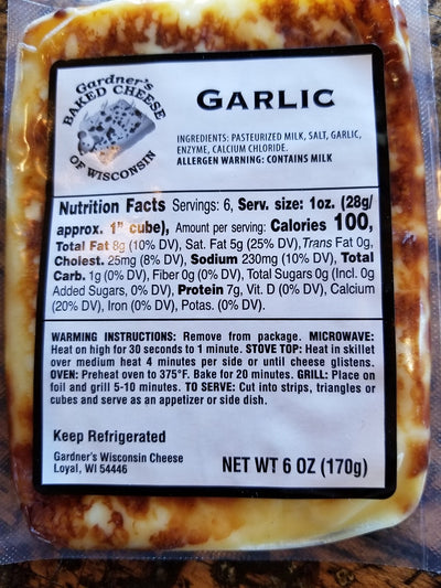 Garlic Oven-Baked Cheese - Gardners Wisconsin Cheese and Sausage