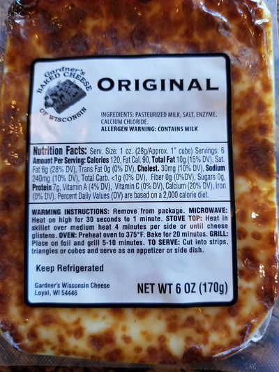 Original Oven-Baked Cheese - Gardners Wisconsin Cheese and Sausage