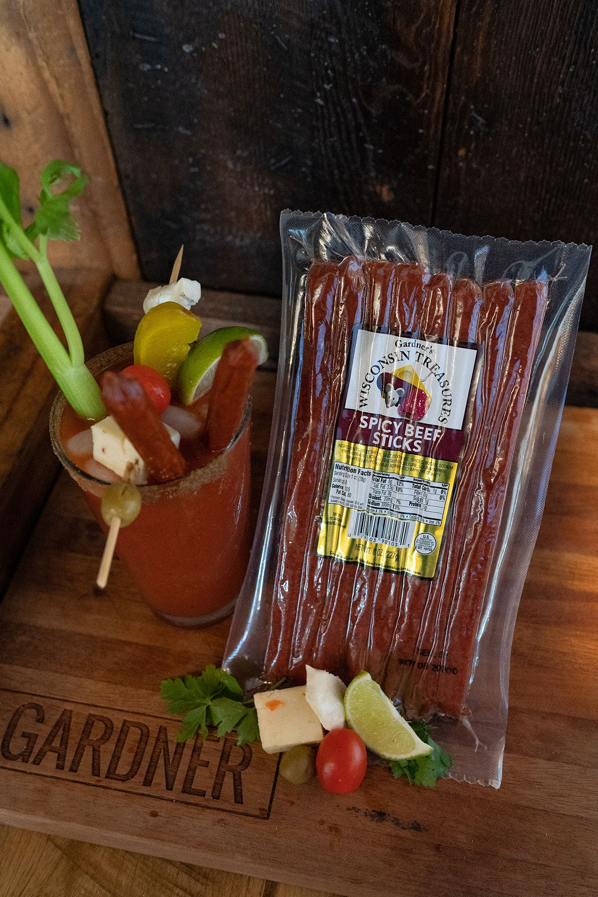 Spicy Beef Snack Sticks - Gardners Wisconsin Cheese and Sausage