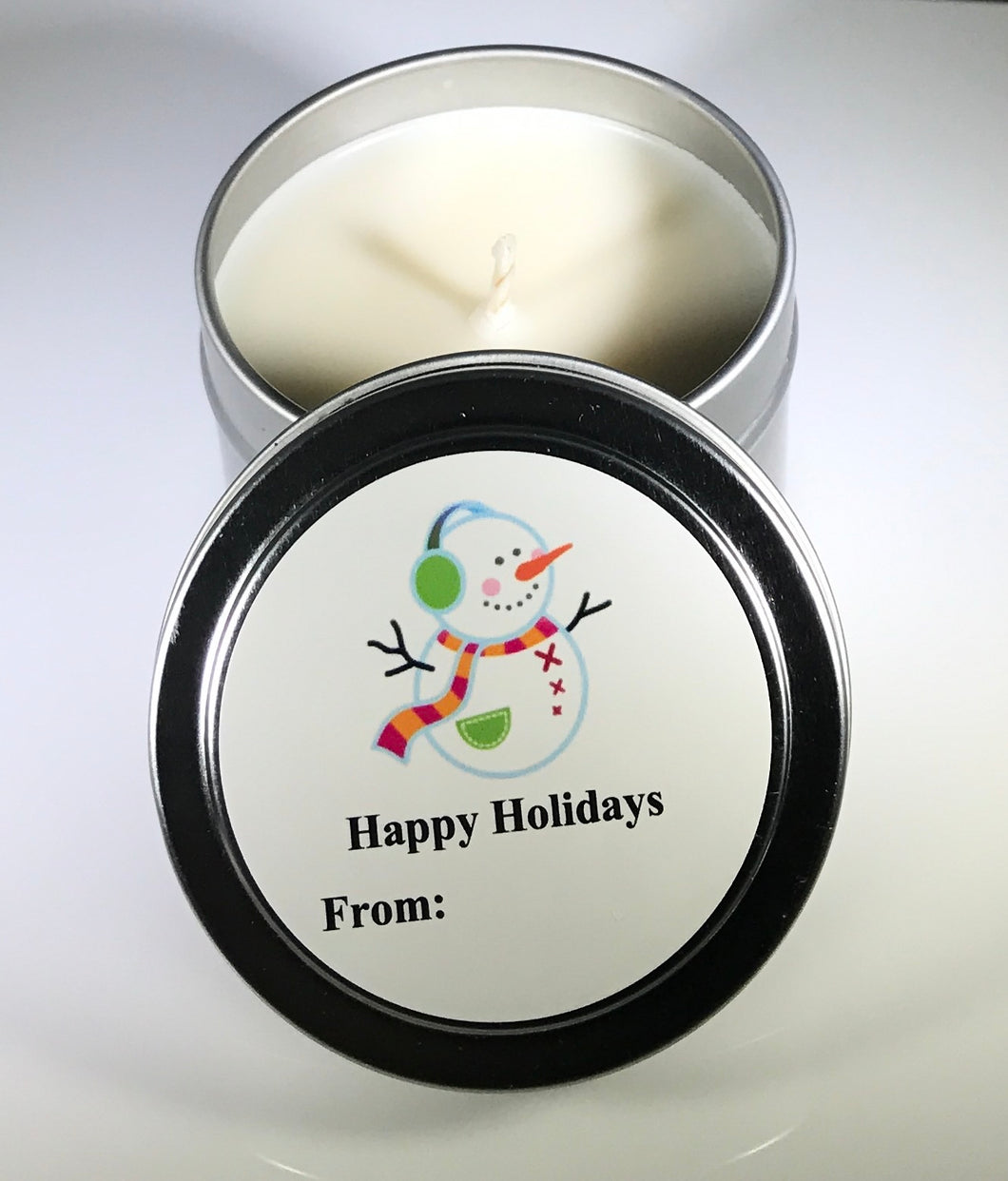 Soy | Aromatherapy Candle | Personalized | 4 oz Travel Tin
