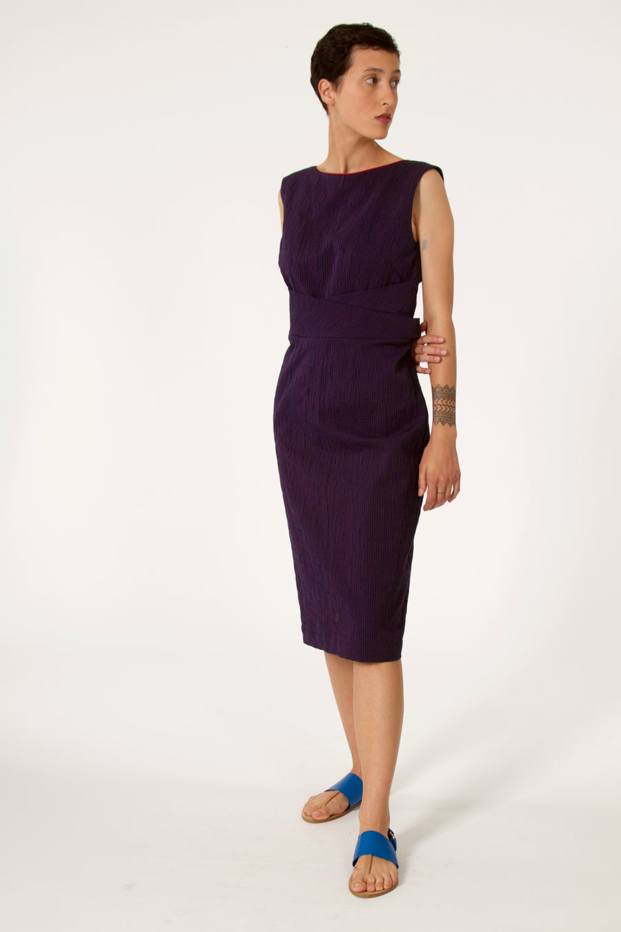 TAMISE Navy Dress