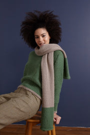 Mohair scarf with green features. So sweet and comfy for cold temperatures.