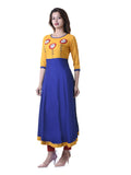 Anarkali -Rayon Patch Work Kurta.