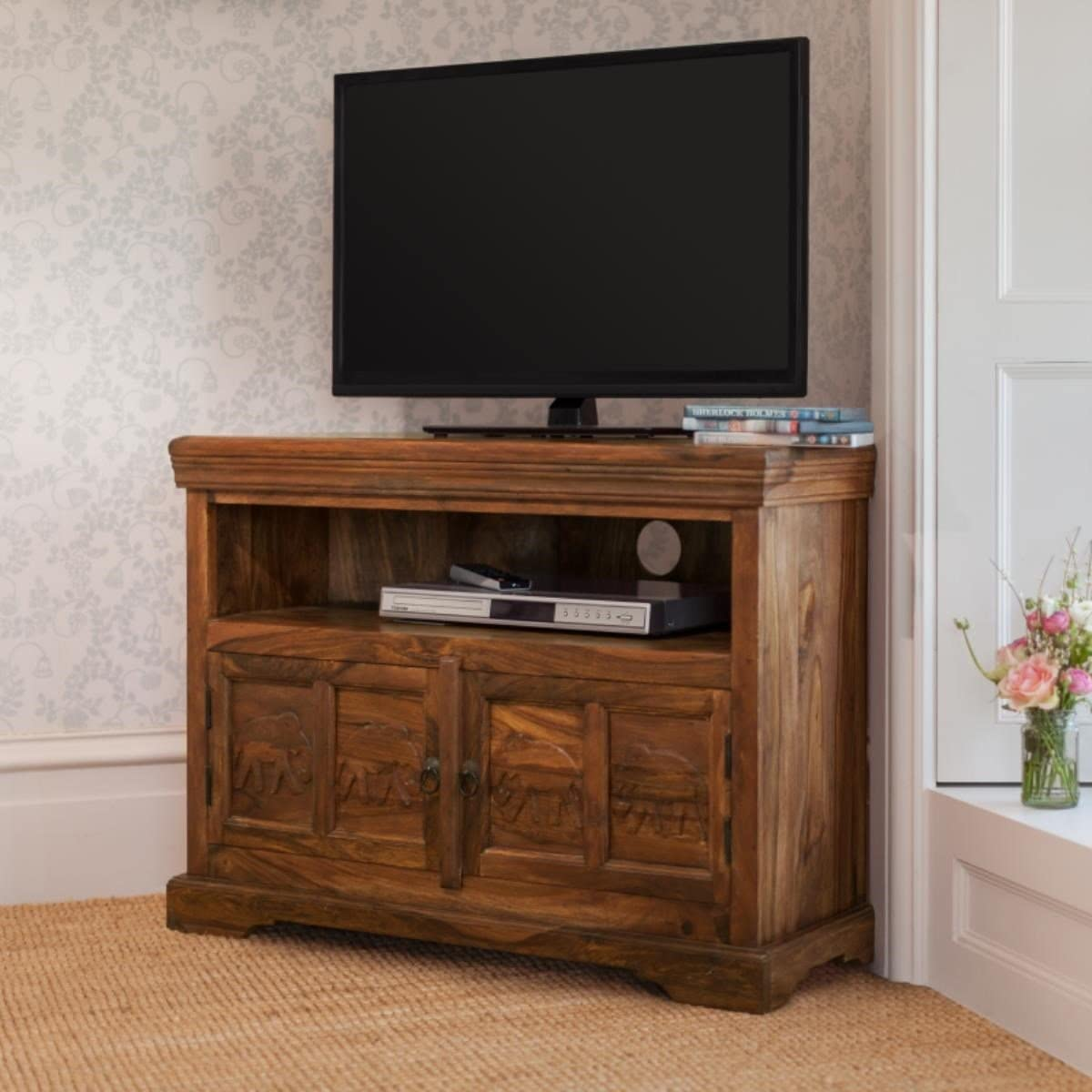 Wooden TV Unit - CORNER ( Hathi Collection )