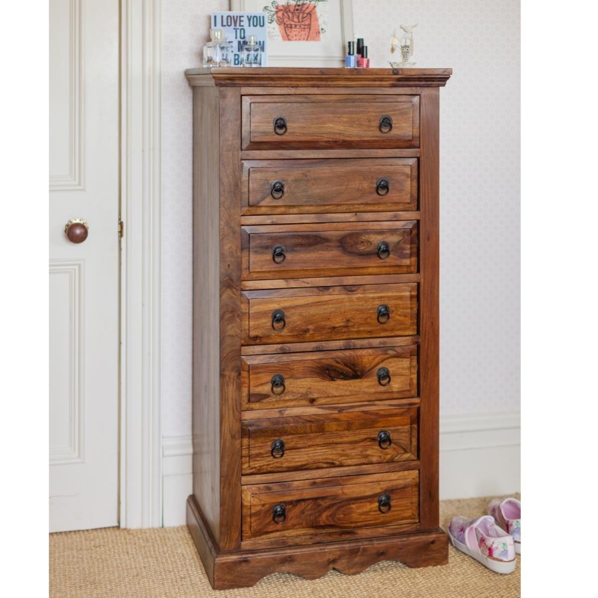 Wooden Chest of Drawers - Gladiolus