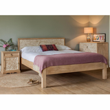wooden bed dahlia carved