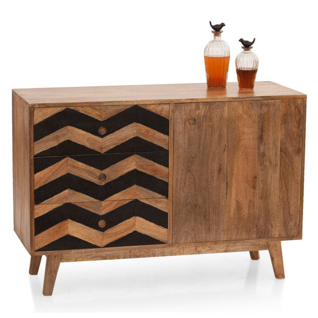 Crockery Unit - Wooden - HERRINGBONE