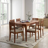 Dining Table Set (6) Wooden - Camellia