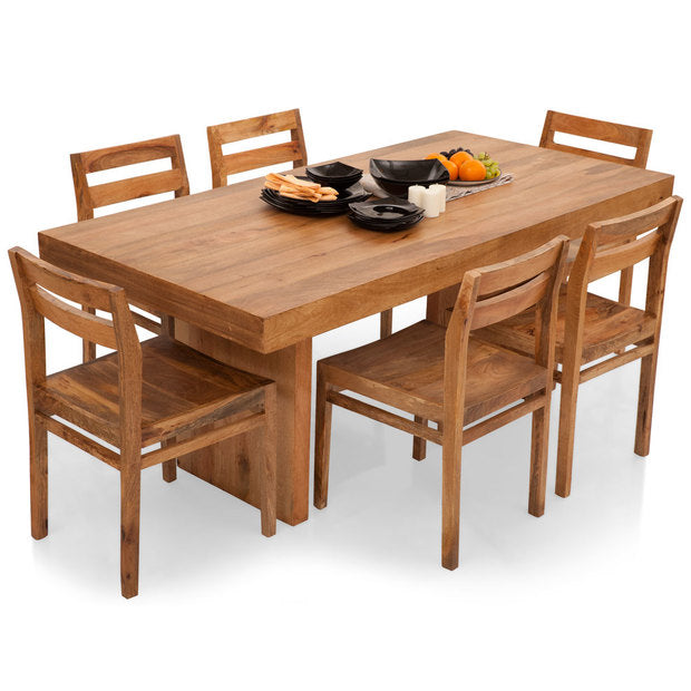 Dining Table Set - Wooden - JORDAN BARCELONA