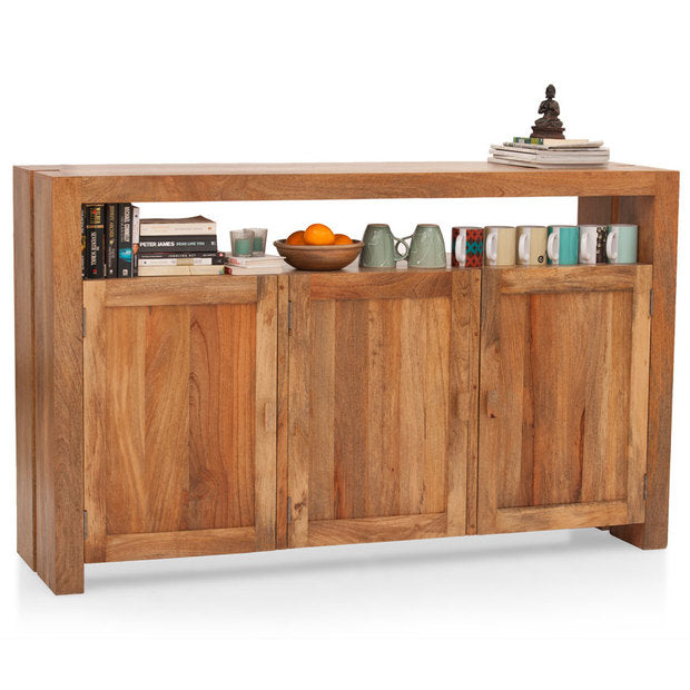 Crockery Unit Wooden - FRESNO