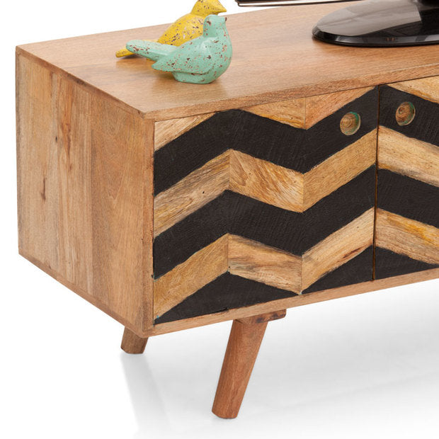 TV Unit Wooden - HERRINGBONE