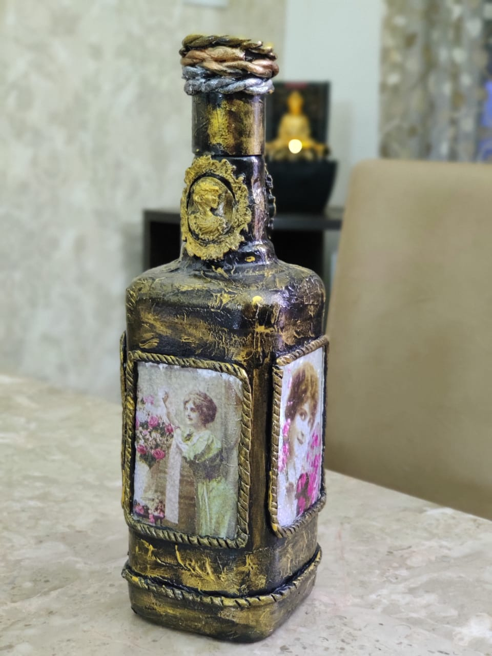 Vintage Bottle art — Paint my Soul