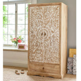 Wardrobe ( Wooden )  — Dahlia Carved