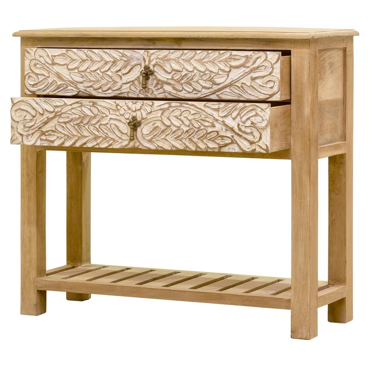 Console Table Wooden CARVED — Dahlia Collection