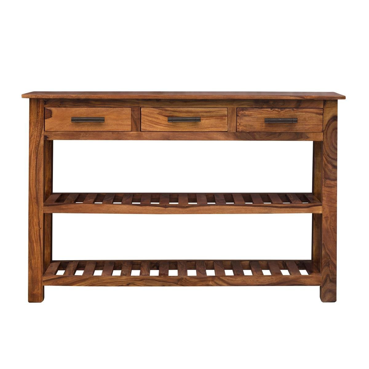Wooden Console Table Gladiolus