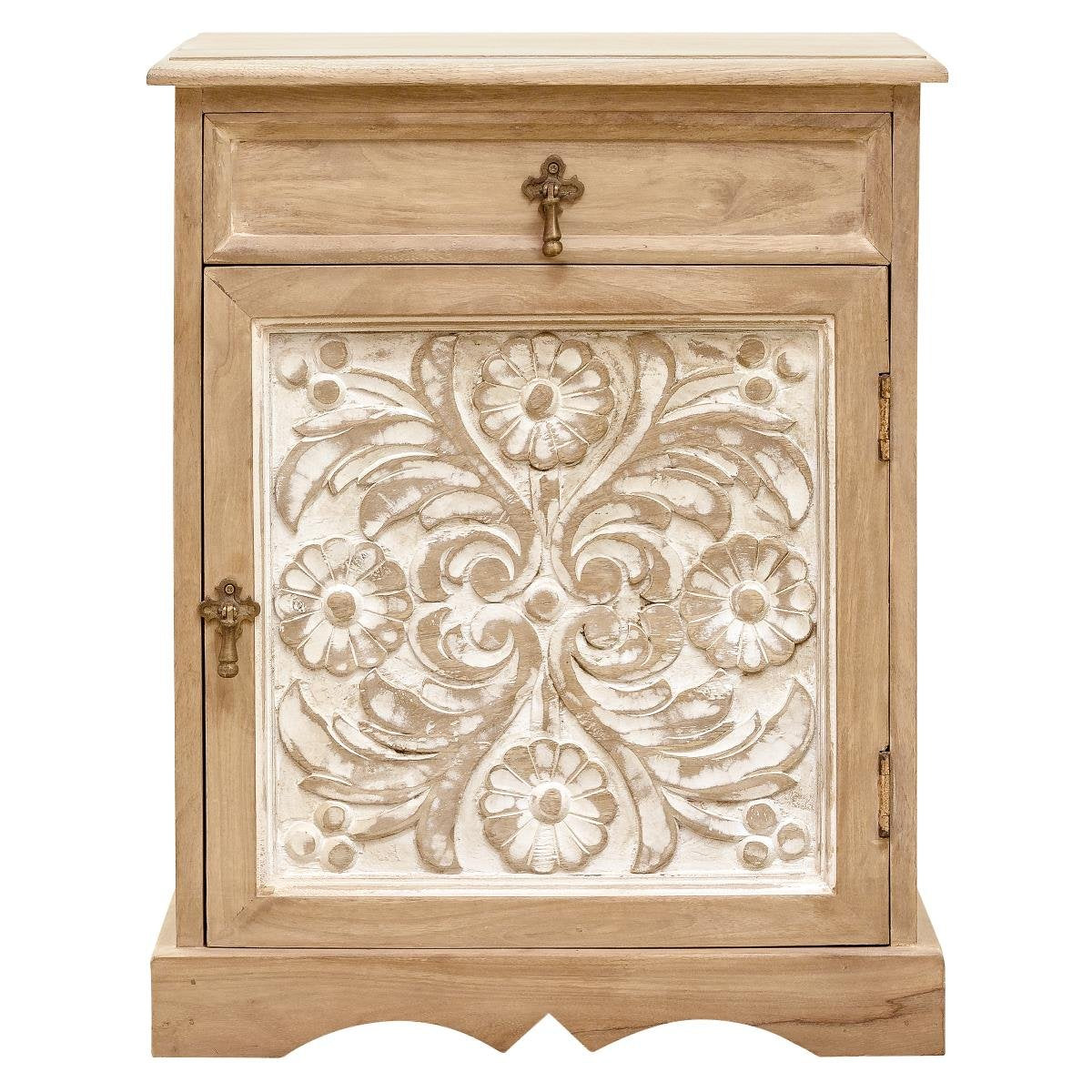 Bedside Table Carved — Dahlia Collection