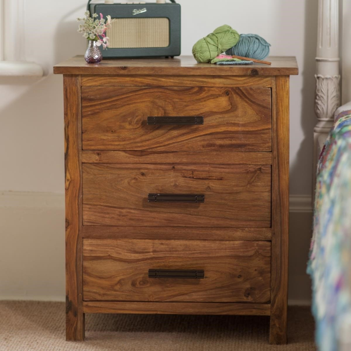 Wooden Bedside table - Marigold Collection