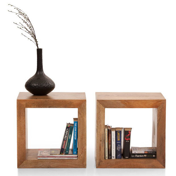 Bookcase Wooden — CUBE (SET OF 2)