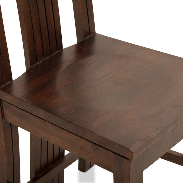 Dining Chair (2) Wooden — CURVED