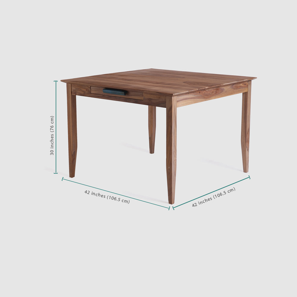 Dining Table Wooden — Tangerine (Four Seater)