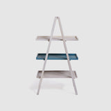 Floor Shelf bookshelf Wooden — TIER ( Teal )