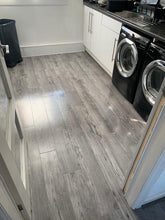 Load image into Gallery viewer, Grey gloss laminate flooring