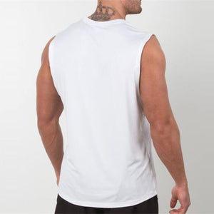 Men's Tank Tops Fitness Bodybuilding Breathable Slim Fitted Muscle Tees