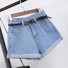 Load image into Gallery viewer, High Waist Women Jeans Denim Casual Shorts