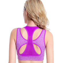 Load image into Gallery viewer, Sports Bra Two-Piece Shockproof Yoga Vest Without Rim Sports Bra