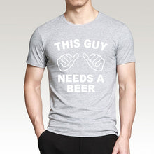 Load image into Gallery viewer, Men's This Guy Needs A Beer Funny Print T-Shirt