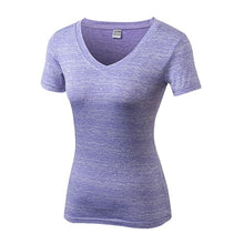 Load image into Gallery viewer, Women's Gym Yoga T-Shirt V-Neck Sport Jersey Quick Dry Running Shirt