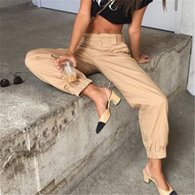 Load image into Gallery viewer, Women's Cargo Pants High Waist with Pockets Loose Trousers